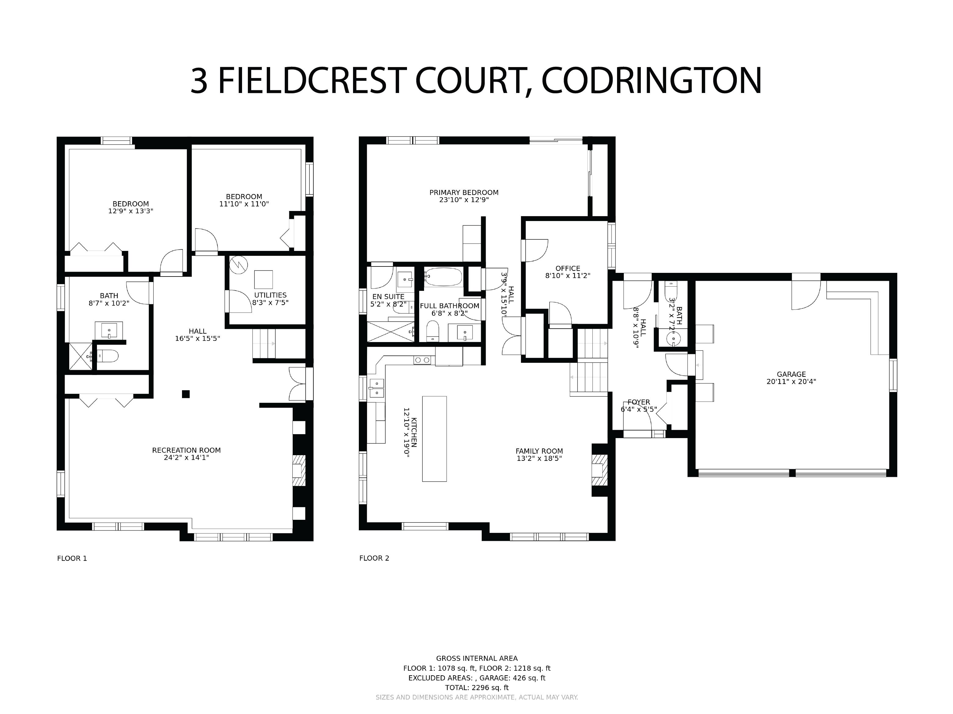3 Fieldcrest Court floorplan