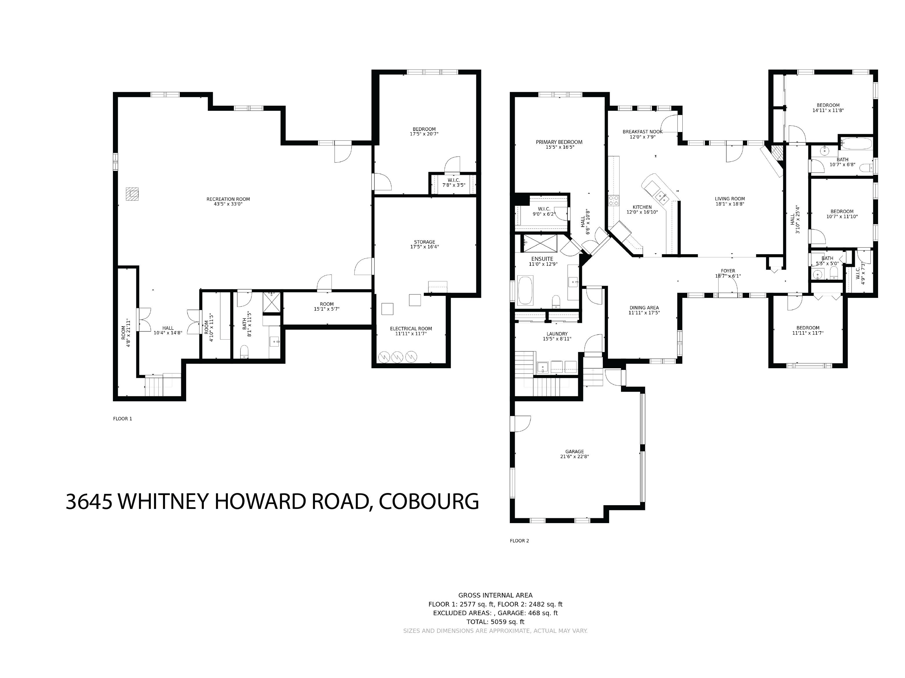3645 Whitney Howard Road floorplan