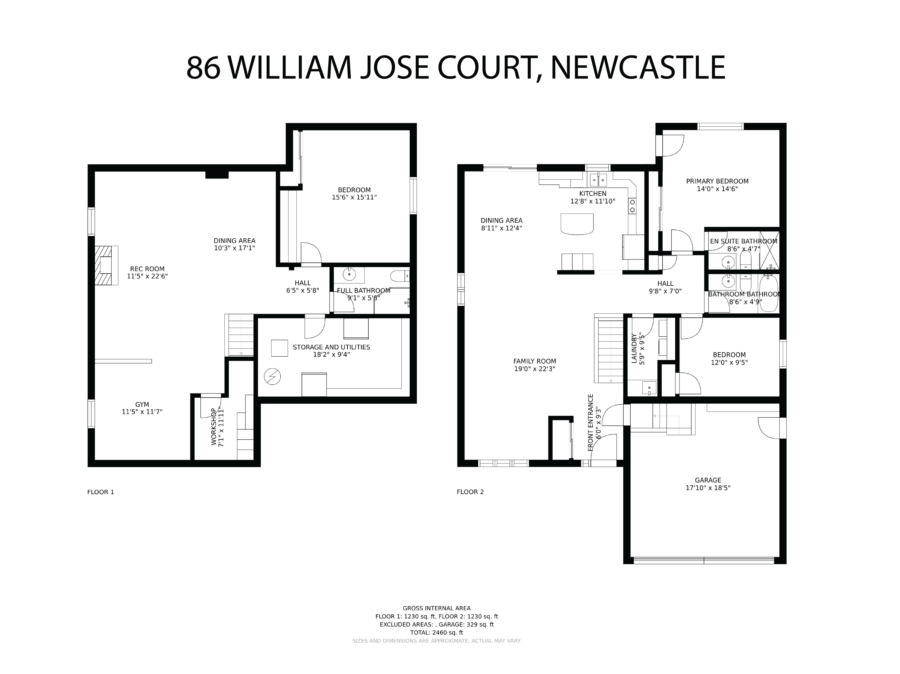 86 William Jose Court floorplan