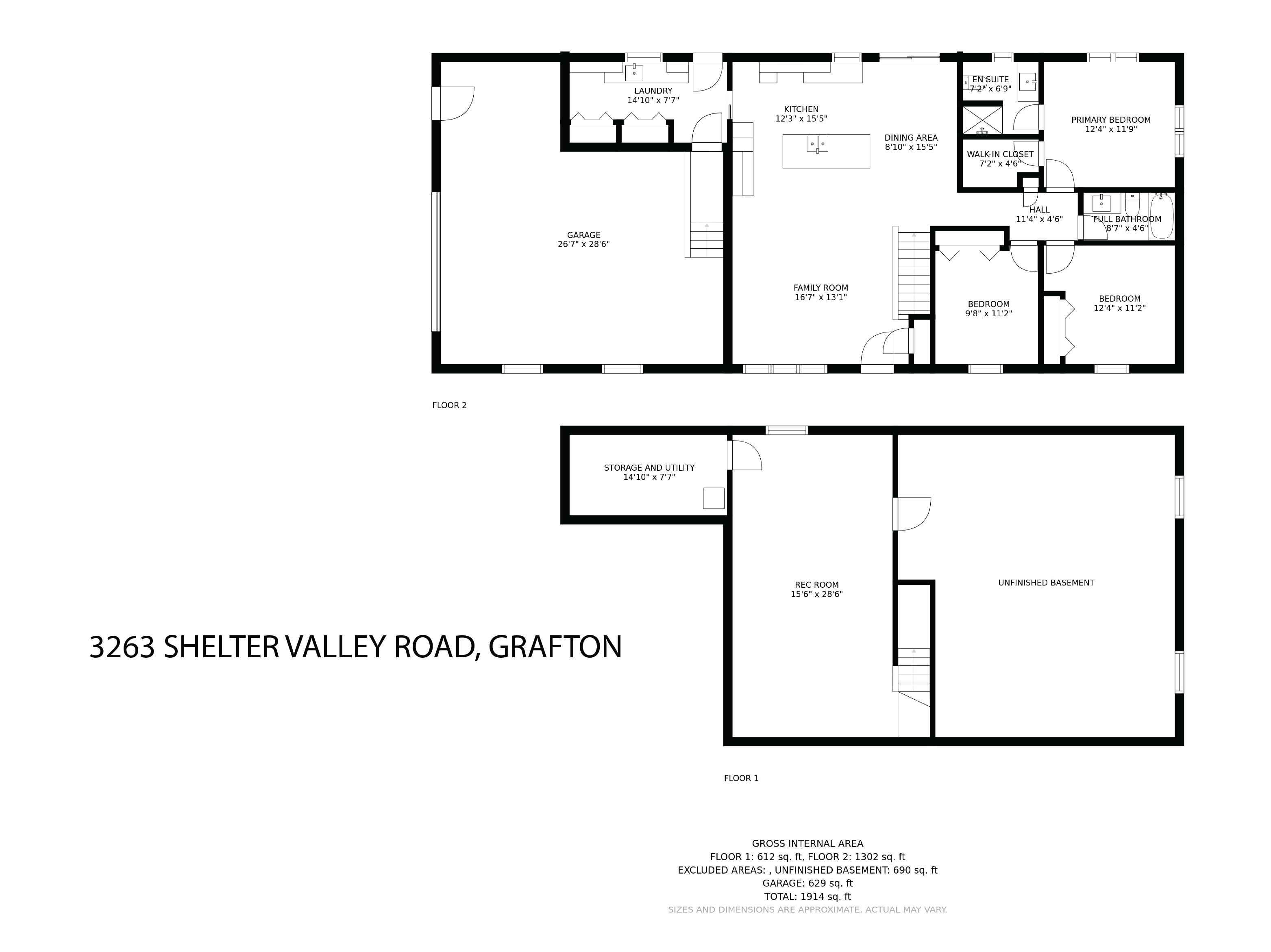 3263 Shelter Valley Road floorplan