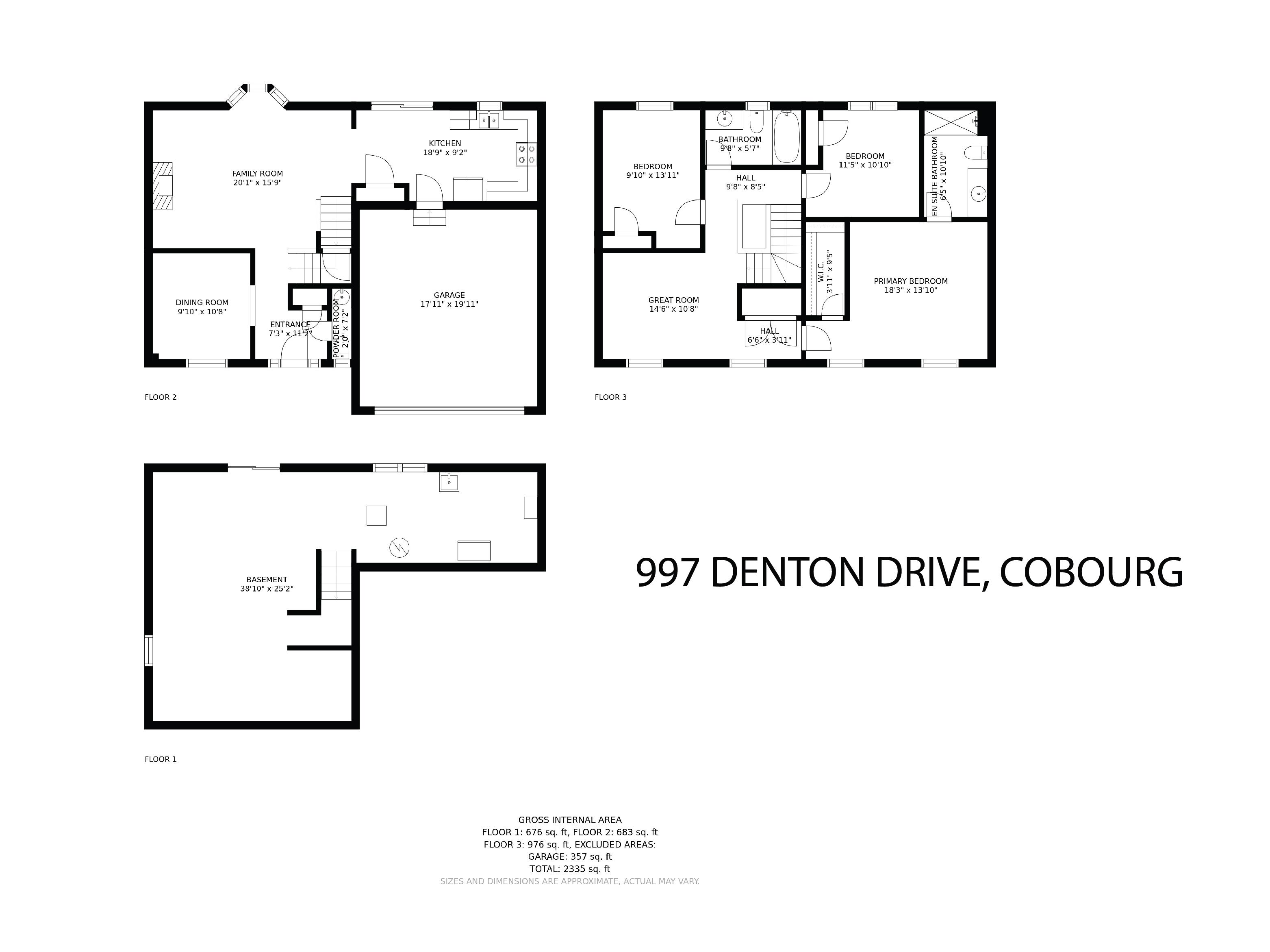 997 Denton Drive floorplan